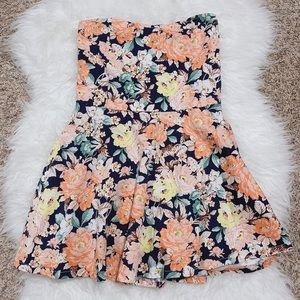 Japan Summer Floral Romper Dress